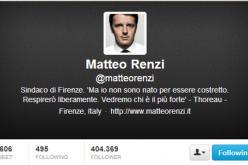 Matteo Renzi al Senato: è record su Twitter