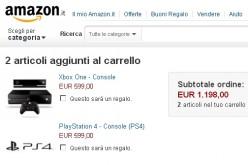 Amazon svela il prezzo di PS4 e Xbox One: 599 euro