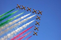 Dell vola con le Frecce Tricolori