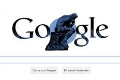 Google dedica un doodle al Pensatore di Rodin