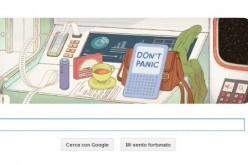 """Google ricorda con un doodle l'autore della """"Guida Galattica per autostoppisti"""""""