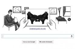 Google: un doodle a macchie per celebrare Hermann Rorschach