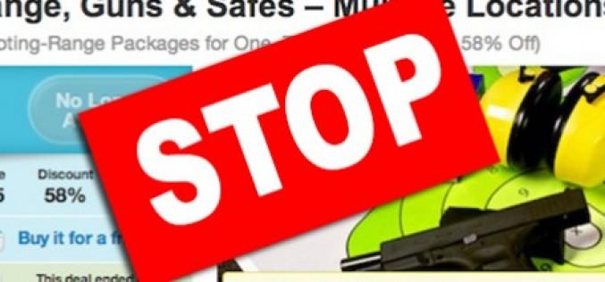 Groupon sospende la vendita di armi