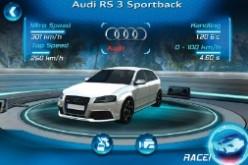 Il test drive della RS 3 Sportback in anteprima su iPhone