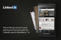 LinkedIn è onboard su BlackBerry 10