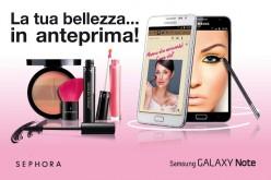 Samsung e Sephora insieme dalla parte delle donne per un make-up tecnologico