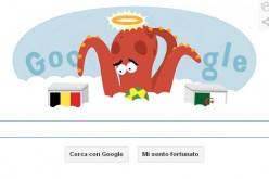 Il polpo Paul protagonista del doodle di Google per Belgio-Algeria