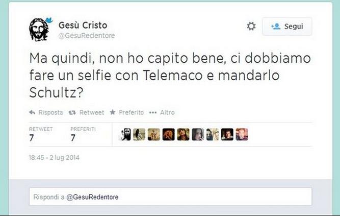 L'Italia di Renzi, Telemaco e i selfie: Twitter si scatena con la satira.