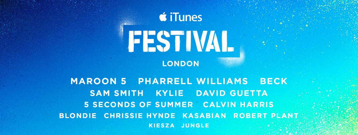 iTunes Festival, Apple annuncia l'ottava festa del pop mondiale a Londra