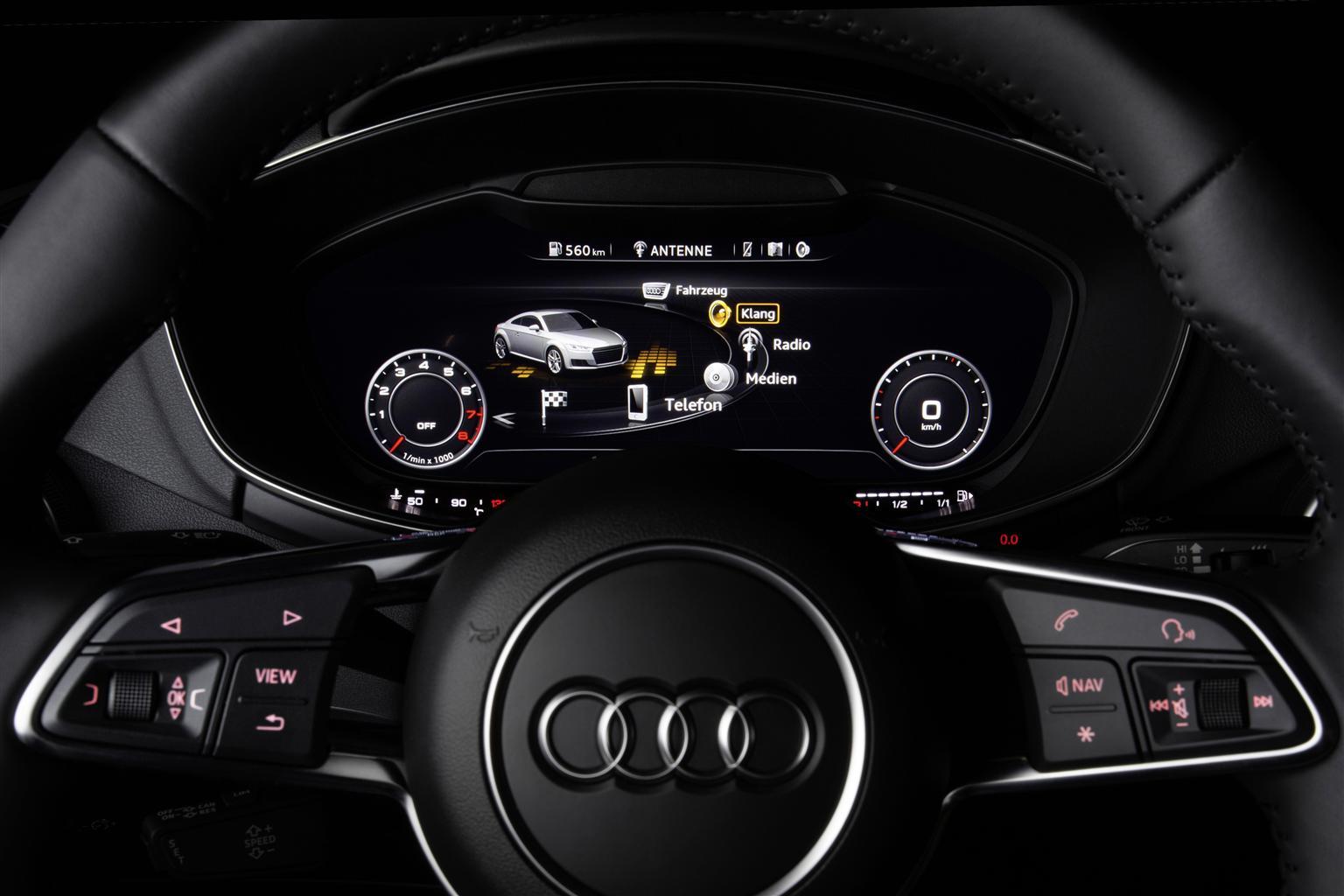 nuova Audi TT con audio Bang & Olufsen