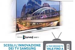 Samsung rimborsa 500€ se acquisti un TV curvo