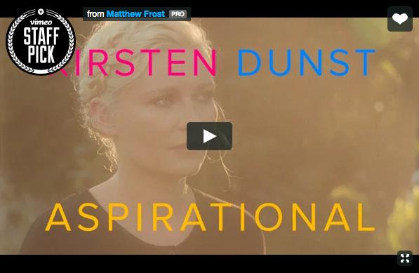 Aspirational, il video di Kirsten Dunst contro la mania dei selfie