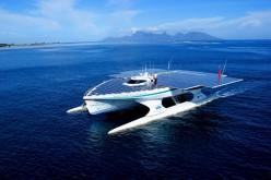 La nave solare Turanor di PlanetSolar sbarca a Venezia