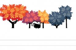 Doodle d'autunno per Google, toni caldi e foglie cadenti per l'equinozio