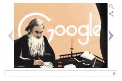 Google, Doodle celebra i capolavori di Tolstoj