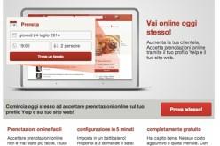 Da Yelp un nuovo servizio a diposizione degli operatori per gestire gratuitamente le Prenotazioni
