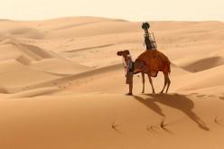 Street View mappa il deserto di Liwa a dorso di cammello
