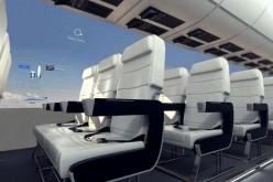 Nell'aereo del futuro niente finestrini ma schermi OLED