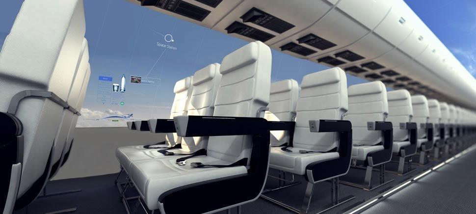 aereo senza finestrini