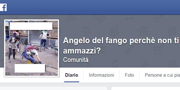 Genova, insurrezione su Facebook per la pagina di insulti agli Angeli del fango