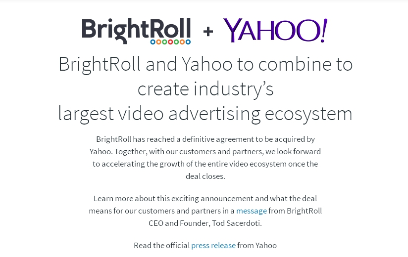 Yahoo! acquisisce BrightRoll