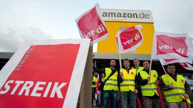 I lavoratori di Amazon in Germania in sciopero prima del Natale