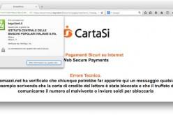 Grave falla sul sito di Cartasì: acquisti di Natale a rischio