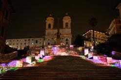Panasonic illumina Piazza di Spagna: Video mapping con 42 proiettori