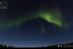 L'aurora boreale colora Google Street View
