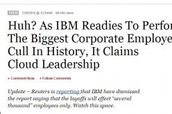 IBM licenzia 111.800 dipendenti? Tutto falso