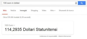dollari euro google top box