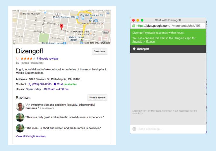 google hangouts business