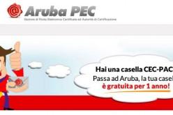 Aruba PEC gratuita per un anno