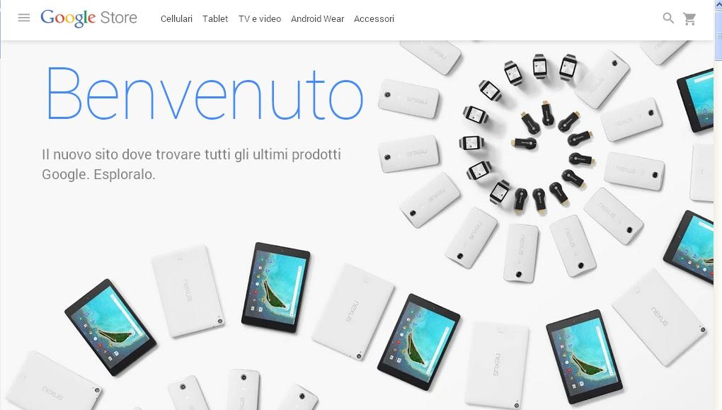 Google Store: negozio online di prodotti hardware di Big G