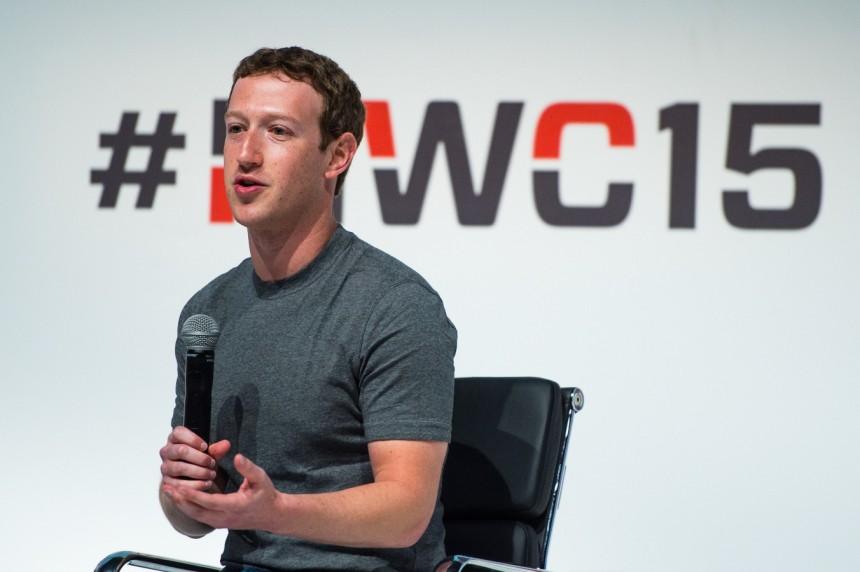 Mark Zuckerberg al Mobile World Congress 2015
