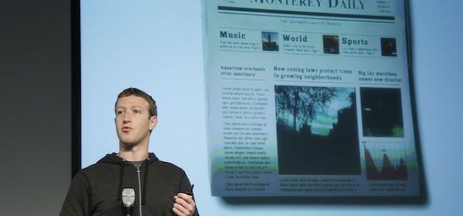 Facebook pensa a un sito di news