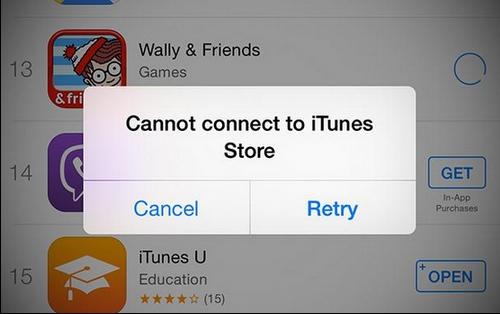 iTunes e App Store offline da stamattina