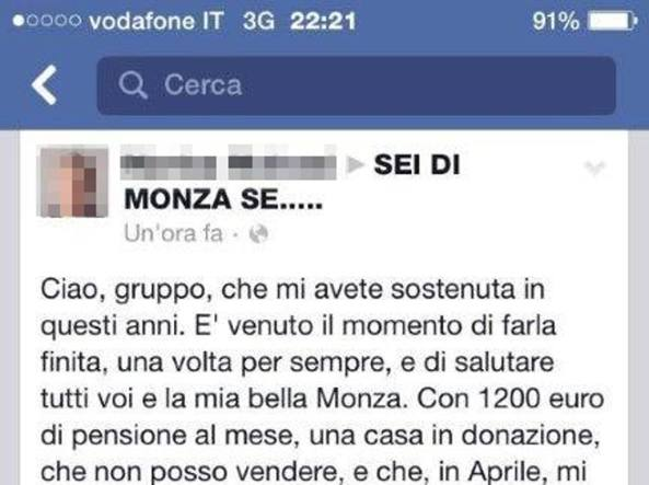 Facebook salva una donna dal suicidio