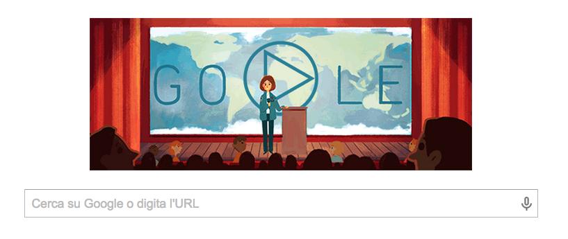 Doodle per Sally Ride, la prima donna americana nello spazio