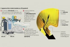Chemio, capelli salvi grazie a un casco