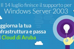 Fine di Windows Server 2003: Aruba propone il passaggio dell'infrastruttura IT su Cloud