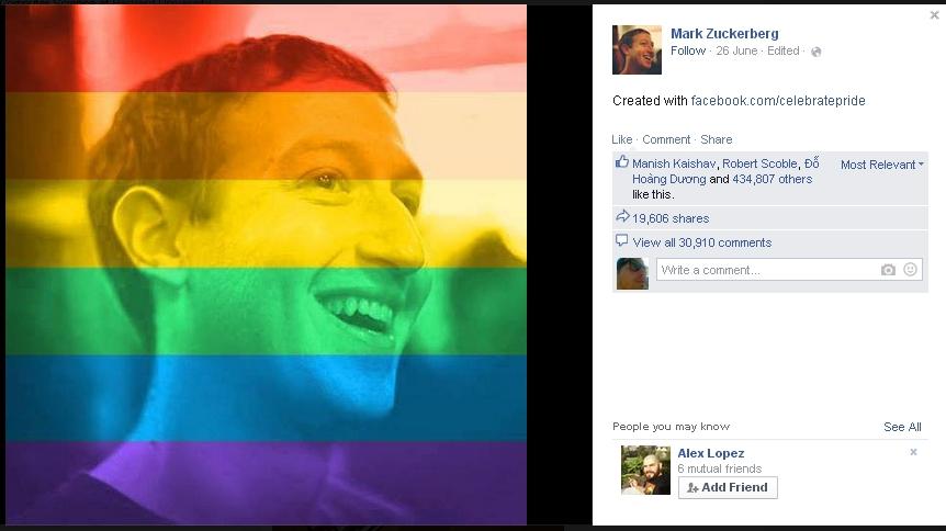 Facebook Celebrate Pride è un nuovo esperimento sugli utenti?
