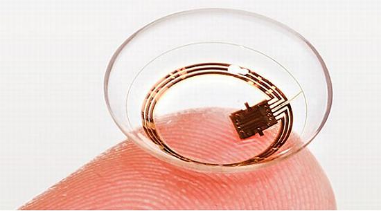 Google lente a contatto con scansione dell'iride