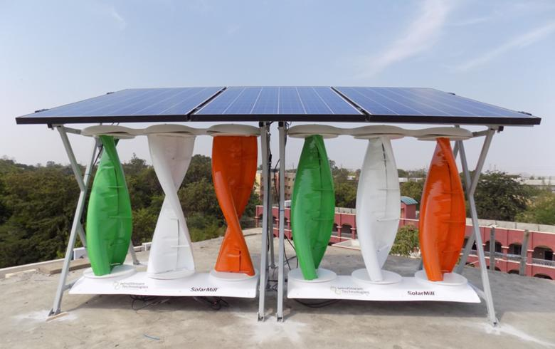 SolarMill, l'impianto domestico che unisce eolico e solare