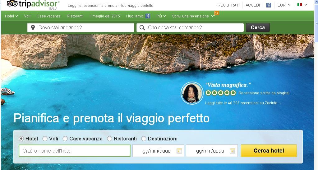 tripadvisor siti di viaggi