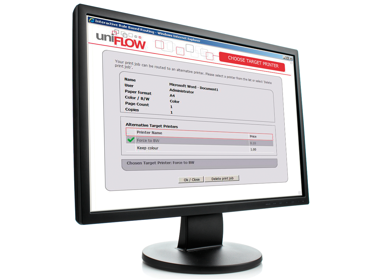 uniflow smart scan