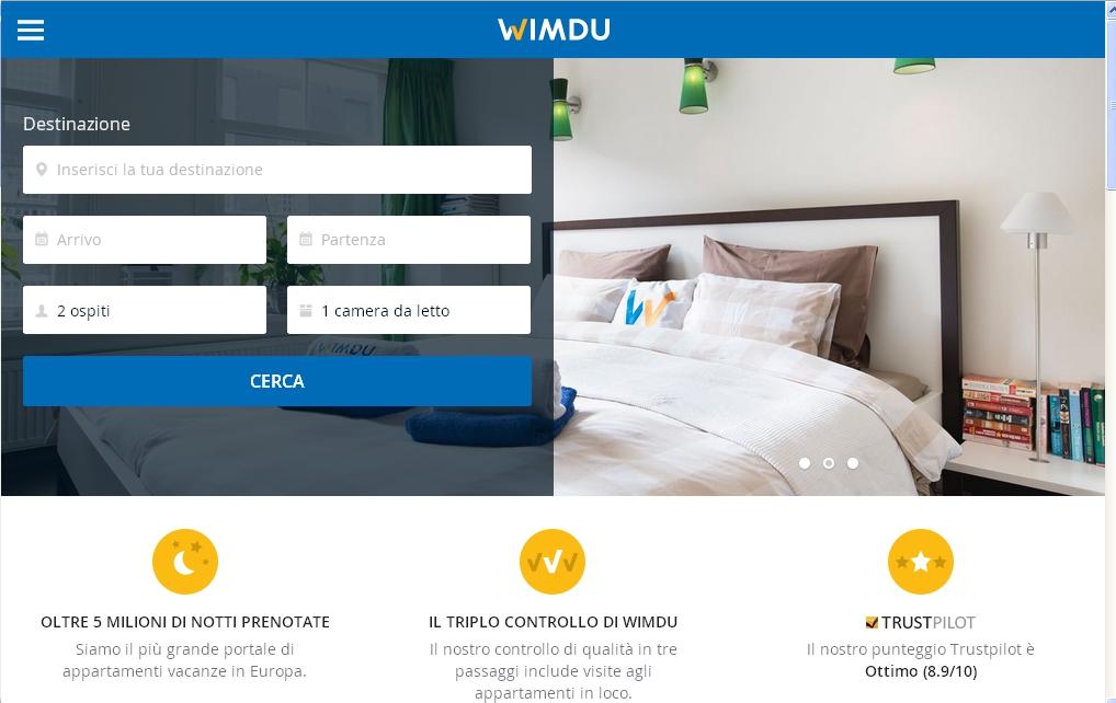 wimdu app viaggi albergo