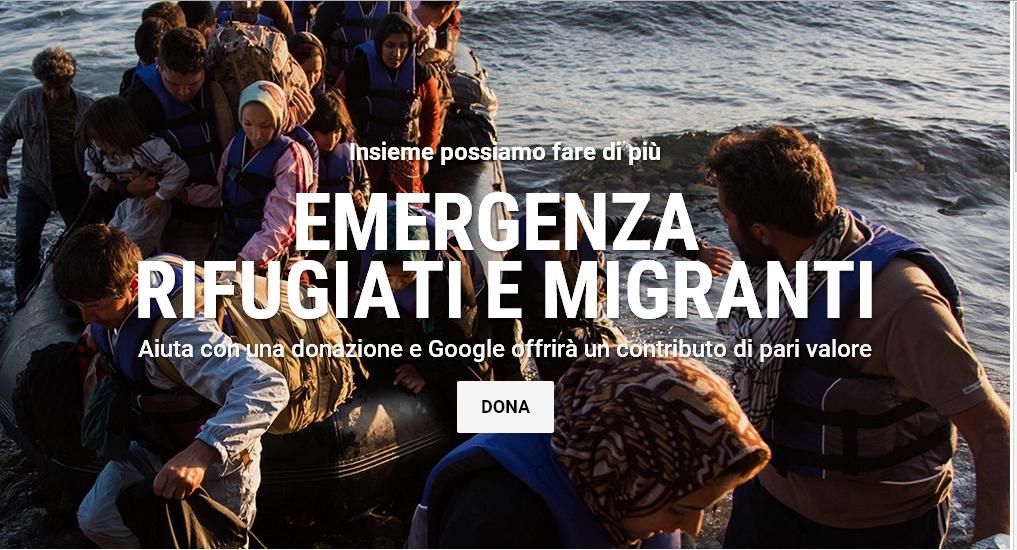 google donazione migranti