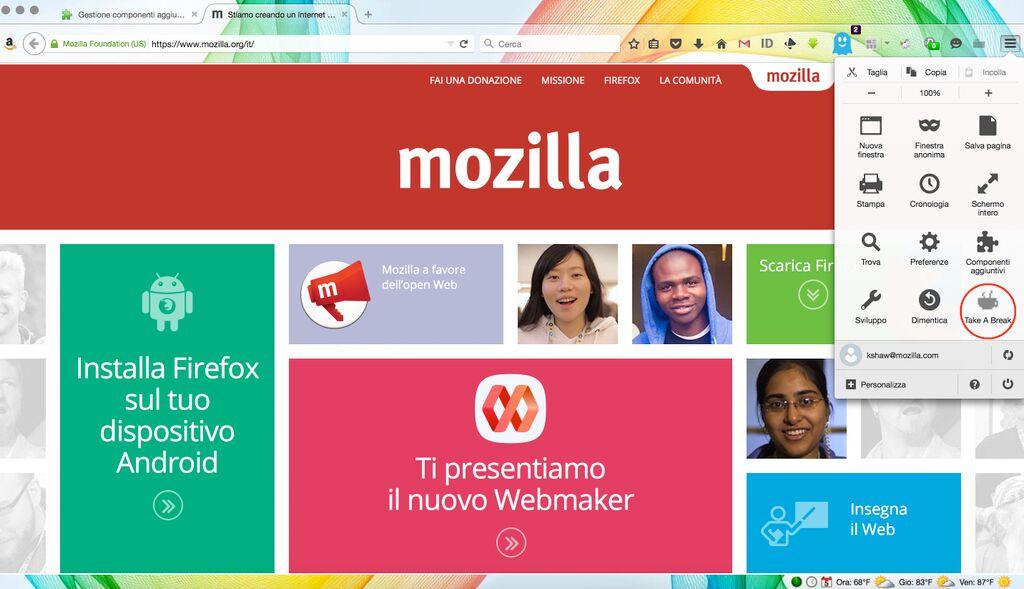 mozilla firefox food alimentazione estensione browser expo milano 2015