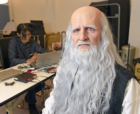 robot Leonardo da Vinci al Museo della scienza e della tecnica di Milano